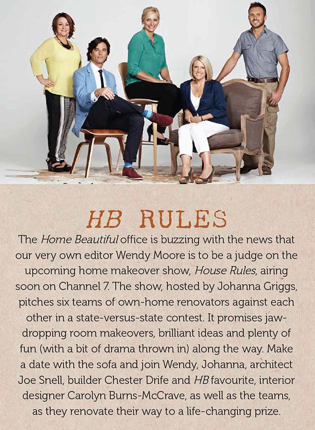 Melbourne Interior Designer Carolyn Burns-McCrave on House Rules